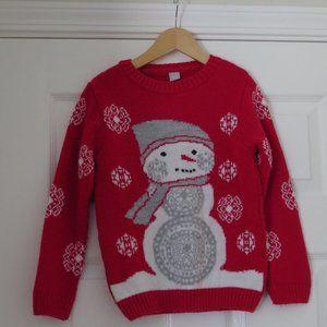 7 years Little Snowman sweater